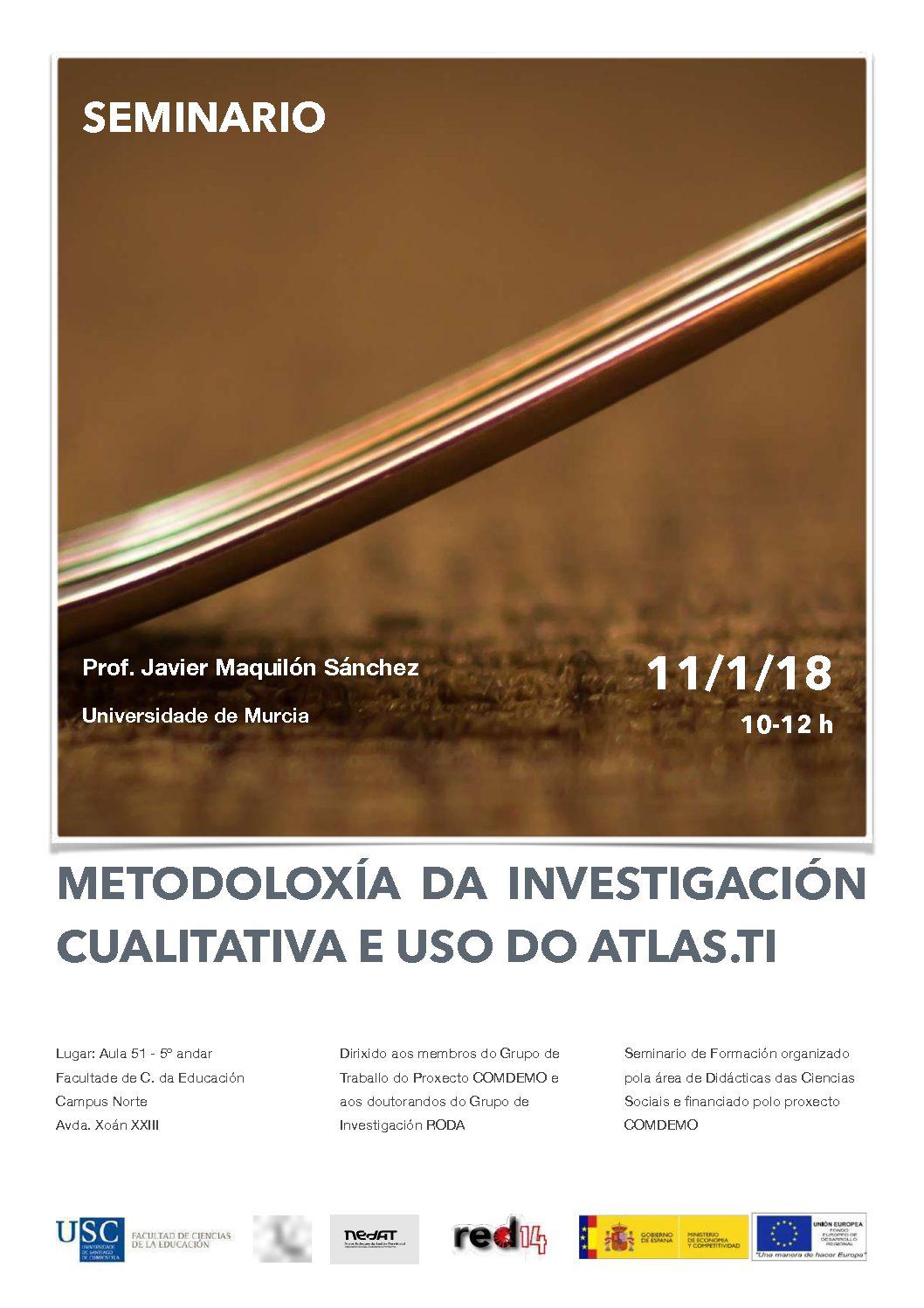 Seminario: Metodoloxía da Investigación Cualitativa e uso do Atlas.ti