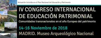 IV CONGRESO INTERNACIONAL DE EDUCACIÓN PATRIMONIAL
