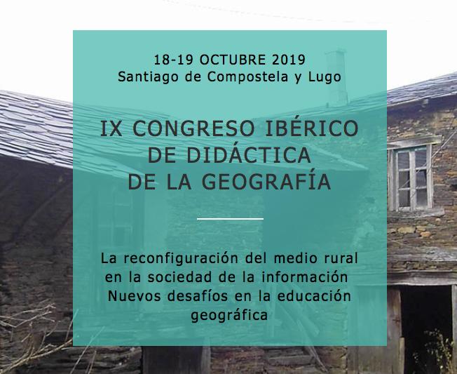 IX CONGRESOIBÉRICO DE DIDÁCTICA DA XEOGRAFÍA