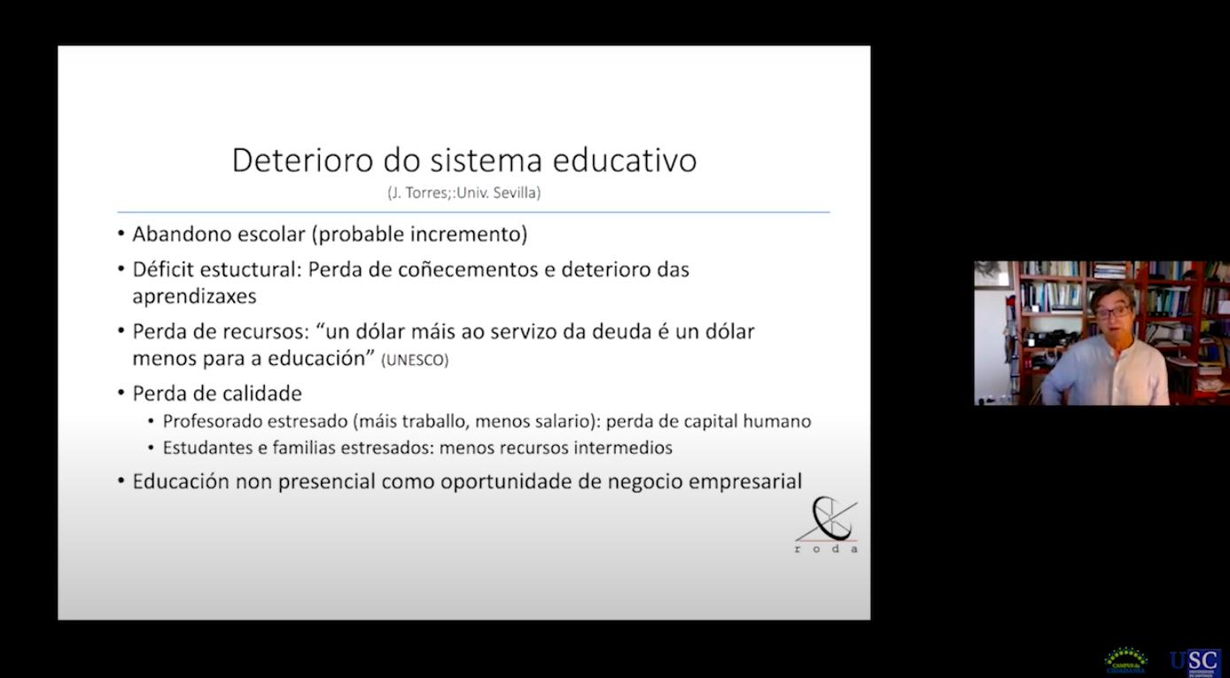 """""""Educación e a pandemia da COVID-19"""" Ramón López Facal"""